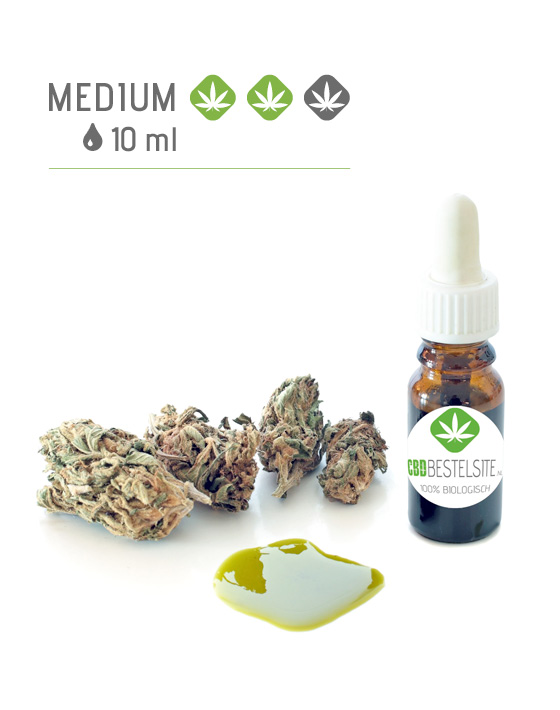 CBD olie 10 ml medium